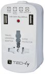 Techly Travel Charger Adapter 2 x USB White