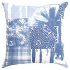 Home4you Holly Pillow 45x45cm Blue Flower