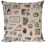 Home4you XMAS Story 45x45cm Beige/Green