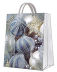 Paw Decor Collection Gift Bag Frosted Baubles Large