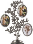 Poldom Photo Frame Triple Family Silver