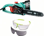 Bosch AKE 35 S Electric Chainsaw + Uvex Safety Glasses
