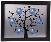 Poldom Photo Frame 5x Family Black/Silver