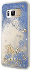 Guess Liquid Glitter Back Case For Samsung Galaxy S8 Blue
