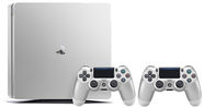 Sony Playstation 4 Slim 500GB (PS4) Silver Limited Edition + 2 Dualshock Controllers