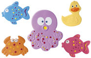 Canpol Babies Mini Bath Mats 5pcs Colorful Ocean 80/003