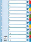 Esselte Document Divider Book 1-12 Colored
