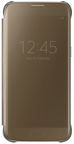Samsung Clear S-View Book Flip Case For Samsung Galaxy S7 Brown