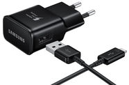 Samsung USB Plug Fast Charger + Type-C Data Cable Black OEM