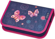 Herlitz Pencil Case Butterfly Blue