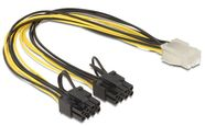 Delock Cable ATX 8pin / Molex 0.30m