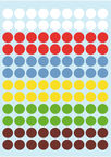 Herlitz Stickers Dots 8mm Coloured