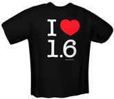 GamersWear I Love 1.6 T-Shirt Black XL