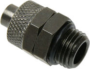 "Ohne Hersteller Adapter for 1/4"" Thread / 10/8mm tube Black Nickel"
