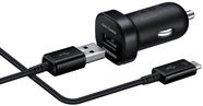Samsung Universal USB Car Quick Charger + Type-C Cable Black OEM