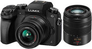 Panasonic Lumix DMC-G7 LUMIX G VARIO 14-42mm/45-150mm Mega O.I.S. Black
