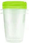 Curver Food Container Set 2PCS Round 1L Take Away Twist Green