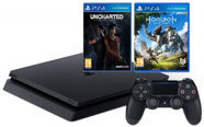 Sony PlayStation 4 (PS4) Slim 1 TB + Horizon Zero Dawn Bundle + Uncharted Z