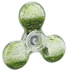 Setty Liquid & Shine Elements Filled Hand Spinner Green
