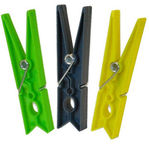 Sauber Laundry Pegs Plastic 30PCS Green/Yellow/Grey