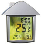 Moller-Therm Digital Thermometer-Clock 90x98mm