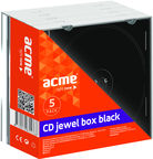 Acme CD Boxes Jewel black 5 Pack