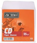 Acme CD Paper Sleeves With Window 25 Pack