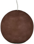 Papstar Ball Candle Brown