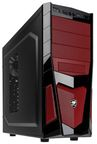 Cougar Midi Tower Window Black/Red