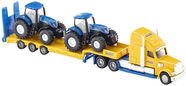 Siku Truck With New Holland Tractors 1805