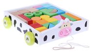 EcoToys Wooden Trolley Cow 2019