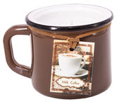 Home4you Candle In Jar Pottery D8.2xH7.2cm Brown