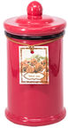 Home4you Candle In Jar Pottery D7.5xH15.5cm Red
