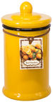 Home4you Candle In Jar Pottery D7.5xH15.5cm Yellow