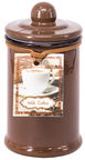 Home4you Candle In Jar Pottery D6xH11.5cm Brown