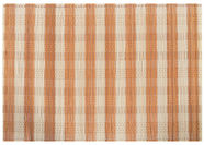 Home4you Placemat Bamboo Orange/Beige Stripes