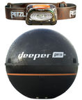 Deeper Smart Fishfinder Sonar Pro Plus For iOS And Android + Petzl TIKKA