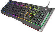 Natec Genesis RHOD 400 RGB Gaming Keyboard US Black