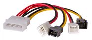 Akyga Adapter Molex / 2x3-pin 0.15m