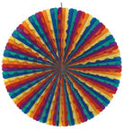 Papstar Decoration Fan Rainbow Ø70cm