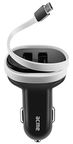 Acme Micro USB Car Charger With Dual USB Ports Black