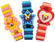 BIGJIGS TOYS WOODEN WATCHES BJ129 ASSORTMENT