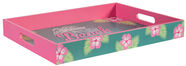 Home4you Wooden Tray Beach Bar L Pink