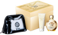 Versace Eros Pour Femme 100ml EDP + 100ml Body Lotion + Cosmetic Bag