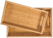 Home4you Trays Bamboo Home 2pcs