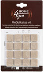 Home4you Furniture Protective Felt 18x18mm Beige 16pcs
