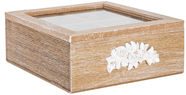 Home4you Tea Box Rose 4x Wood