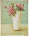 Home4you Picture Grace 20x25cm Peonies In Vase