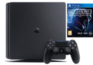 Sony Playstation 4 (PS4) Slim 1TB Black + Star Wars Battlefront II Deluxe