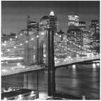Home4you Print Picture 40x40cm Bridge Lights NY